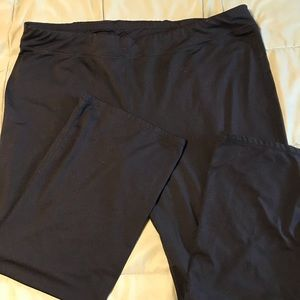 Black stretch work out pants
